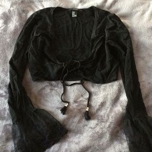 Forever 21 black lace up top